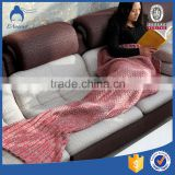 China Factory Christmas Hot Selling In India Flower Printed Cheap Super Soft King Size Mermaid Blanket