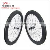2016 complete special full carbon fiber time trial road bike 60mm 23mm clincher rims DT350 hub + Sapim aero spokes