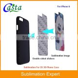 Factory price Blank Sublimation Cell Phone Case Sublimation phone holster 2D protective case for iPhone 6