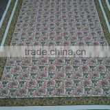 Cotton powerloom bed-sheets / Sanganeri best hand block printed design bed-sheets & covers