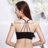 nylon spandex lady's sport bra cross back straps