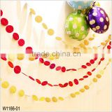 4m Pearl Paper Garland Round Drop Circle Banner Bunting Wedding Birthday Classroom Party Pon Decoration