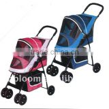 2015 pet prams with 3 point canopy with game entrance and shock absorption black wheels have sharker fuction.