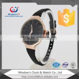 color silicone band 3 ATM waterproof quartz vague watch