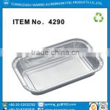 foil containers airline lunch box aluminium tray microwavable and frozenable aluminium foil food casseroles with lids
