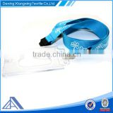 flat polyester lanyard with name tag