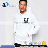 Guangzhou OEM High Quality White Fleece Custom Stitich Logo Men 80 Cotton 20 Polyester Hoodies