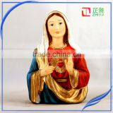 custom virgin mary and baby jesus bust statues for sale