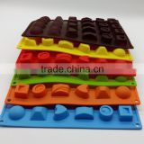 Wholesale easy pop out FDA food grade non stick 30 cavities soft silicone shaped make custom candy molds
