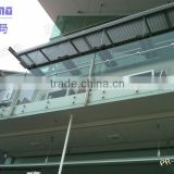 Best-selling outdoor balustrade with patch fittings/modern frameless tempered glass railing for balcony