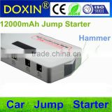 multi-functional 12v car jump starter emergency portable car jump starter with LCD display