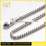 Jewelry Accessory 316L Stainless Steel long box Chain Jewelry Various Sizes of bracelets necklaces bag chains(SC -001))