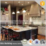 European style full wooden kitchen cabinet with an island set