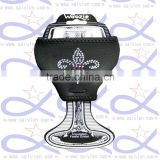 Custom logo print neoprene wine glass cup holder