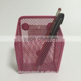 2016 factory best selling promotional gifts office and school desk organizer metal mesh pen holder megnet
