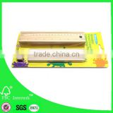 Natural colored pencil set in wood box with eraser for children school gift