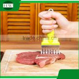 Kitchen accessories tool hanging long handle manual plastic stainless steel meat needle hammer tenderizer