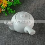 Hot sale stocked white ceramic tea pot set,classical style small tea pot for home and hotel use