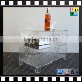 custom design acrylic book storage box high quality cheap acrylic storage table for book new arrival clear acrylic book stand