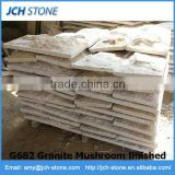 Chinese yellow granite mushroom finished natural surface wall stone
