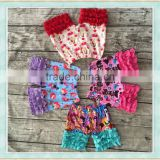 Wholesale cotton short shorts icing ruffle summer comfortable kids hot sale shorts