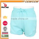 New Style 100% Cotton Breathable Soft Fashion Girls Short Pants for Fitness