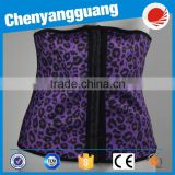 CYG-Purple animal markings 4 steel bones lady waist belt-trainer