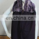 Top quality dyed Rex rabbit fur shawl
