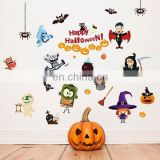 2017 new Halloween decotation wall sticker , House Spirit Pumpkin Lamp Display Window Decoration Sticker