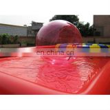 inflatable red water ball and inflatable swimming pool