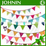 OEM custom printed polyester decarative fabric bunting triangle flags