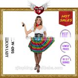 2016 Top King New Style Sexy Corset Costume Holiday Cosplay Mexican Lady Costumes for Female