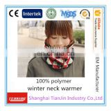 High quality polar fleece knitted neck warmer