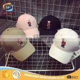 WINUP 2017 fashion custom 3d bear embroidery logo baseball cap
