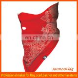 red cheap printed triangle dog bandana