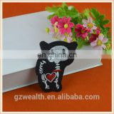 Hot sale new style garment trims lovely applique embroidery black cat patches for kids wear