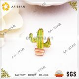 Lovely cactus design enamel pin for clothing decoration