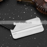 customized logo low price high quality wholesale aluminum leather string luggage tag with name card