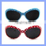 Colored Plastic Framed Fashion Pinhole Glasses for Children