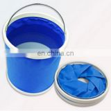 Blue outdoor folding bucket
