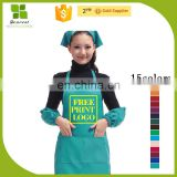 factory hot sales reusable plastic apron free printing LOGO