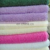 Solid color Microfiber towel soft handle for bathroom or kitchen towel from China supplier
