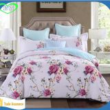 China cheap polyester custom print bed sheet fabric for making bed sheets