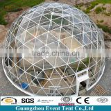 Beautiful geodesic dome tent, white and transparent wedding tent for sale,carpas blancos y transparente