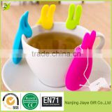 BPA Free Supper New Cute Silicone Bunny Rabbit Tea Bag Holder
