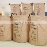 Jute Fabric bag Dirty Clothes Laundry Storage Basket