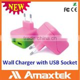Professional Supplier Provide Directly Power Adaptor with Dual USB Wall Charger Socket for Mobile USB Devices