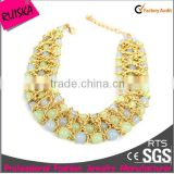 High Quality Ball Bead Plated Gold Chain Necklace In Bulk
