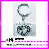 Fashion crystal keychai double heart charm bling bling