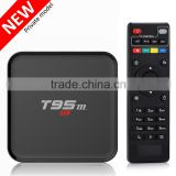 H.265 internet cable TV wholesale android smart tv set top box, T95M M8S t8 plus MQX tv android box
